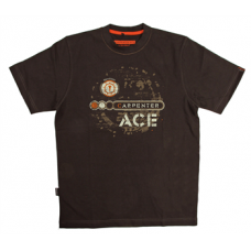 Carpenter ACE T-shirt with print, Black