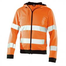 Hooded top jackets Orange/Black