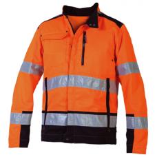 Jacket Polyester/Cotton Orange/Black
