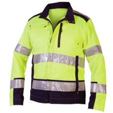 Jacket Polyester/Cotton Yellow/Navy