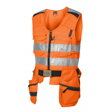 High-visibility Tool vest Class 2, Orange/black