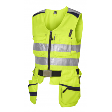 High-visibility Tool vest Class 2, Yellow/navy