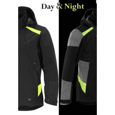 Softshell Jacket Visibility Black/Yellow